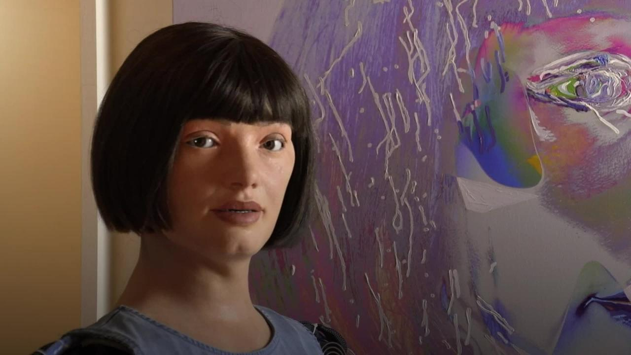 World's first ultra-realistic robot artist goes on display at London museum