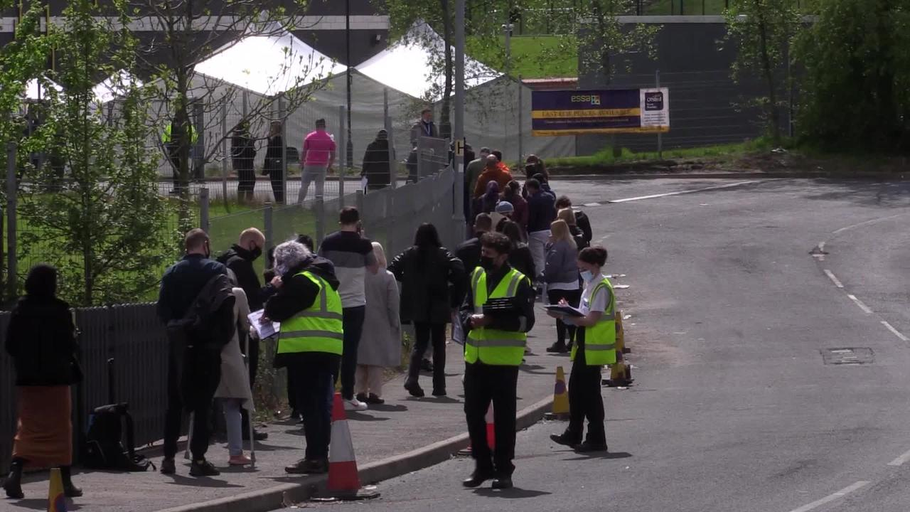 Vaccination queues continue in Bolton as India variant numbers high