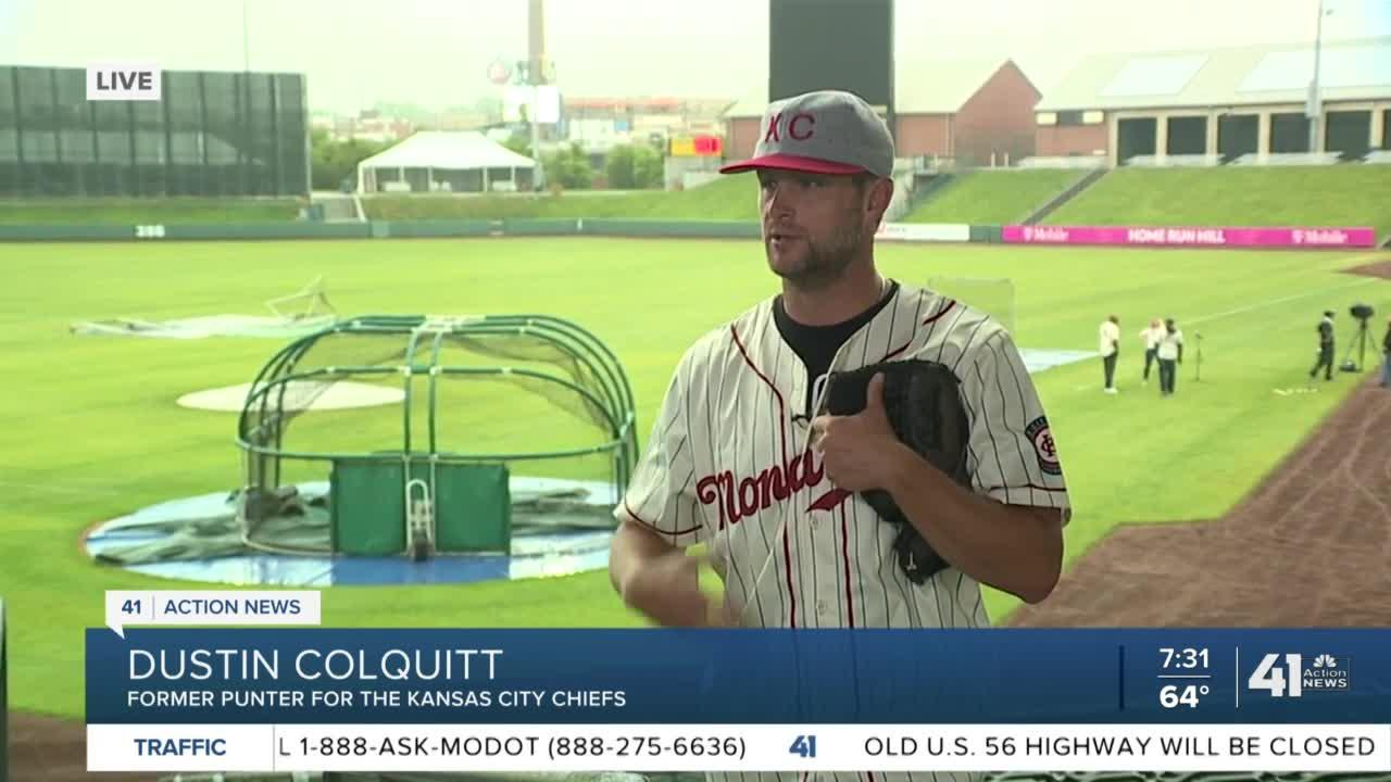 Dustin Colquitt at Opening Day
