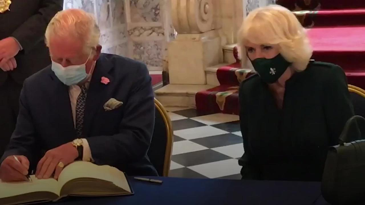 Charles and Camilla visit Belfast City Hall at start of two-day visit to Northern Ireland