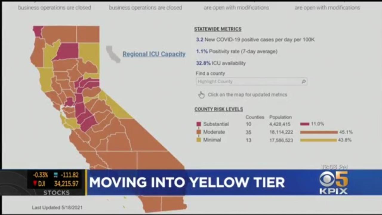 Santa Clara and Santa Cruz Counties Reach Yellow Tier