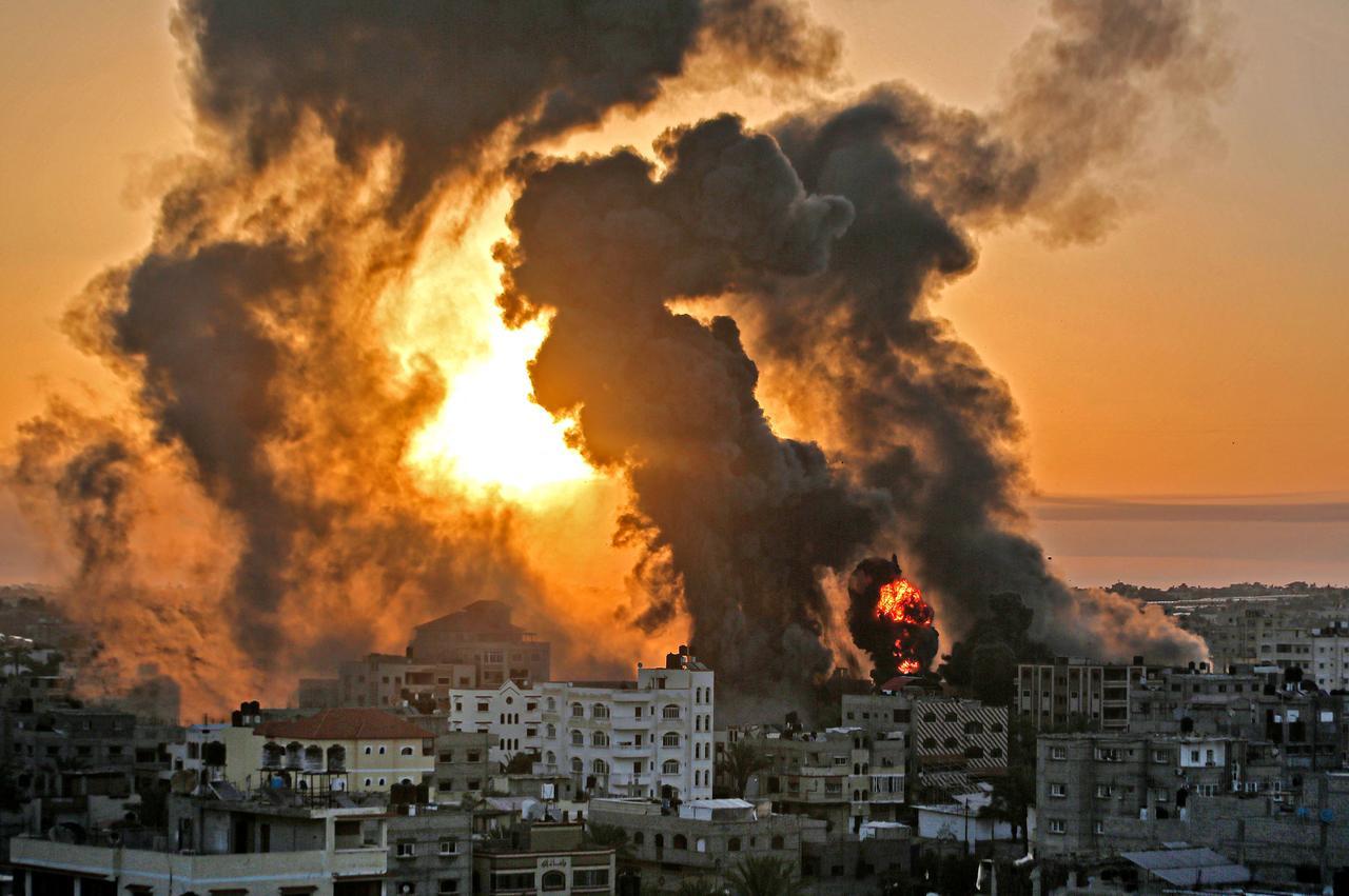 Israel-Gaza violence: flattened buildings, rockets and communal unrest