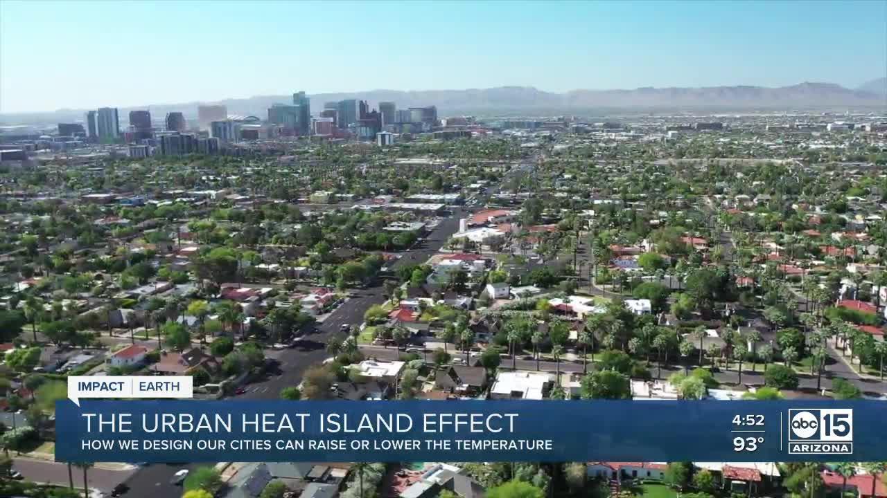 Phoenix's urban development is making an already hot desert, even warmer