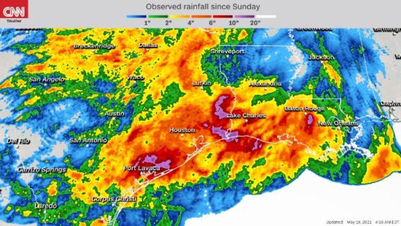 Dangerous flash flood threat remains across the Gulf Coast