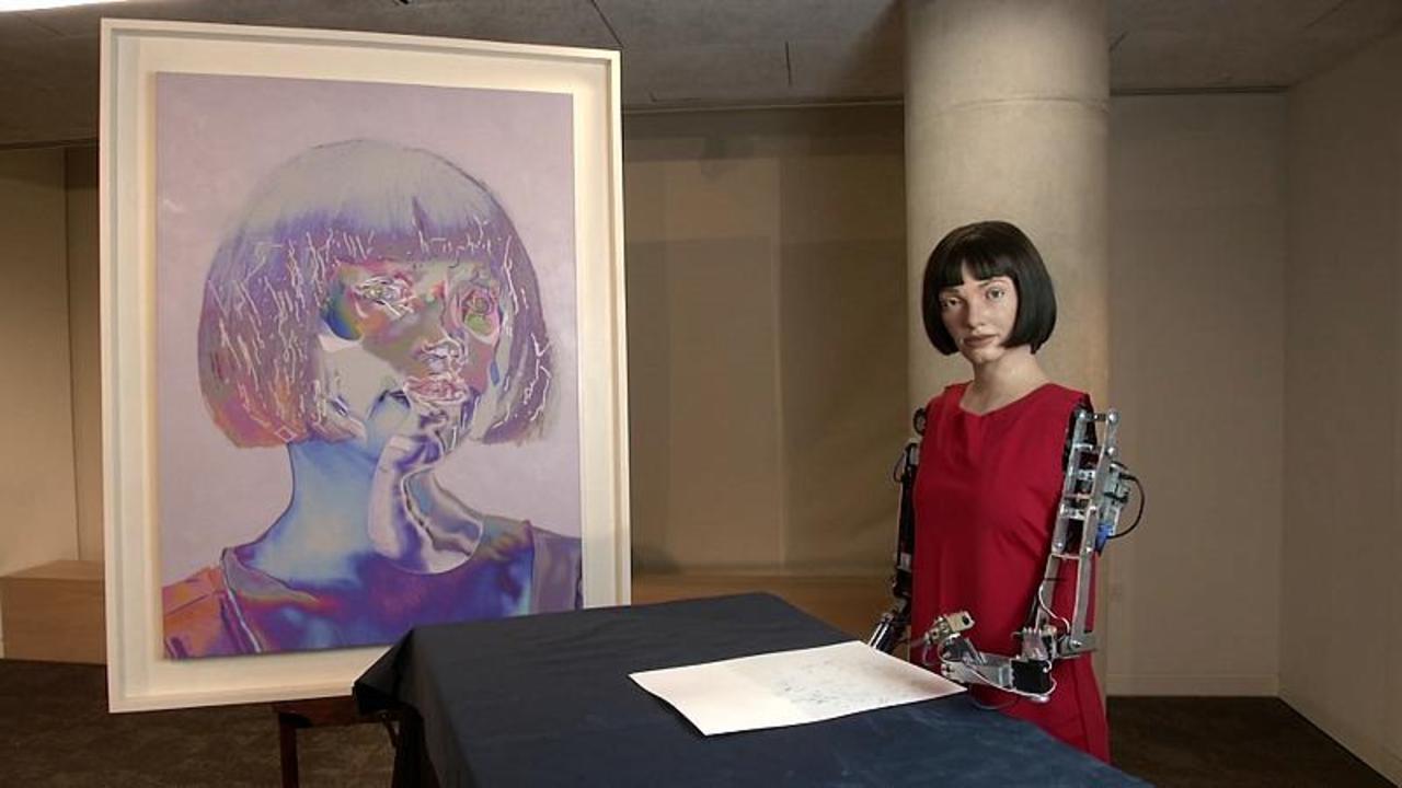 The Artist in the Machine? Meet 'Ai-Da', the AI robot debuting her work in London's Design Museum
