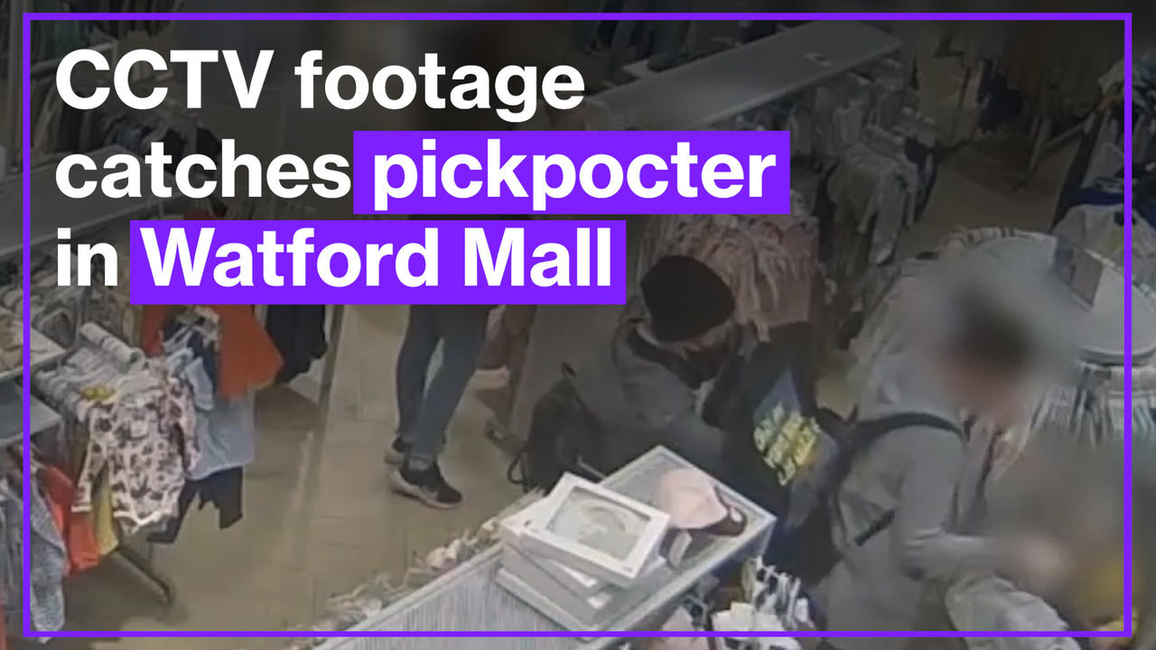 Police Release CCTV of 'Purse Dipping' Theft in Watford Shopping Mall