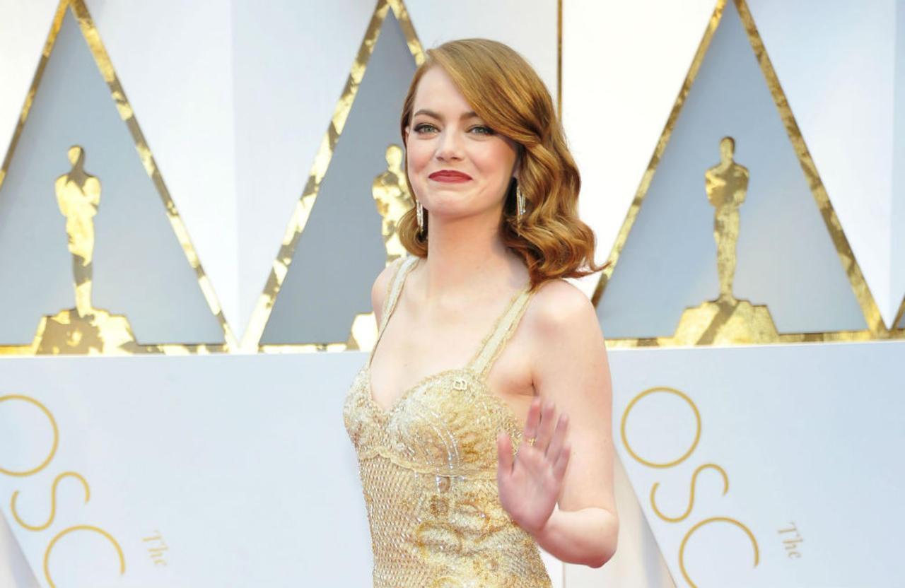 Emma Stone says Leonardo DiCaprio probably thinks she's weird