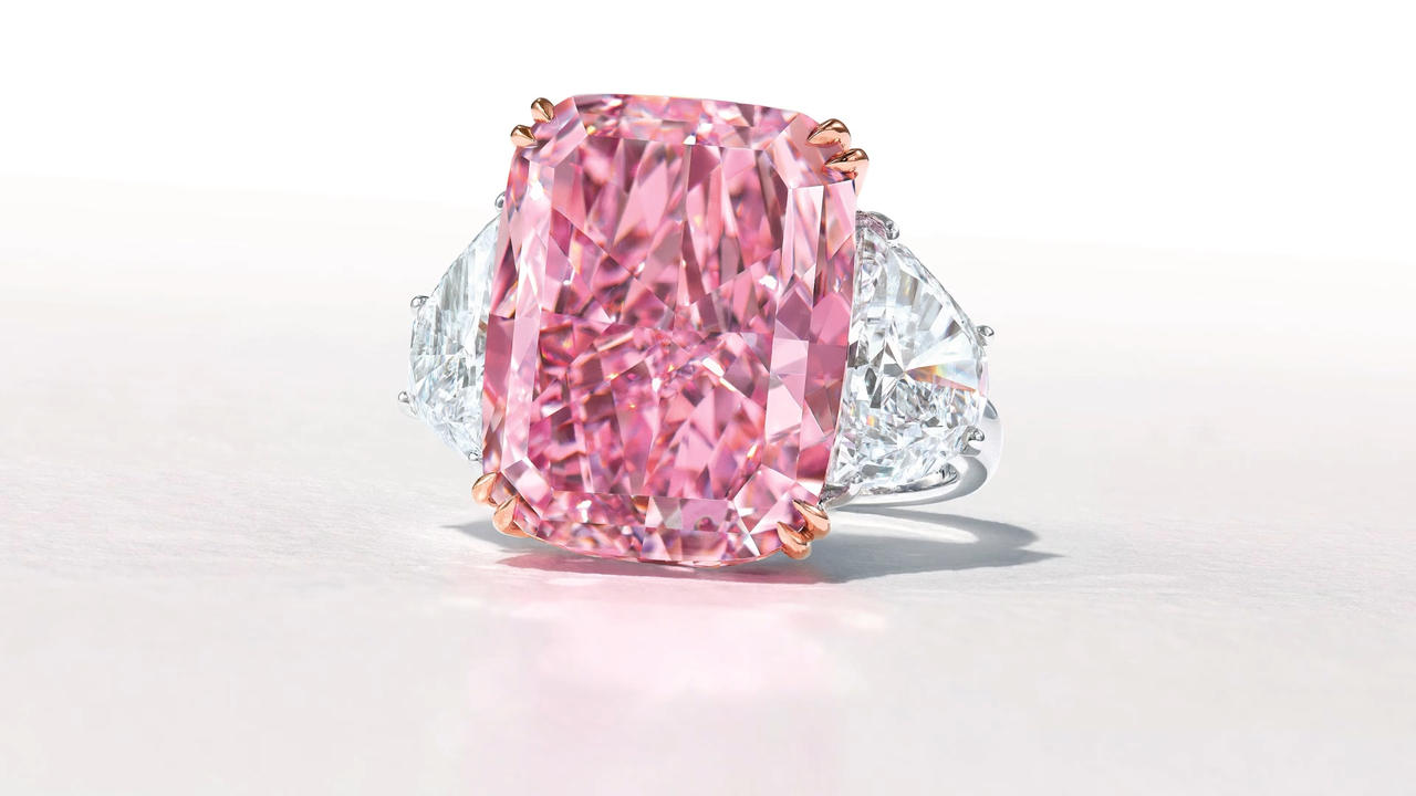 Rare Flawless Purple-Pink Diamond Weighing Nearly 16 Carats Could Sell For $38 Million At Auction
