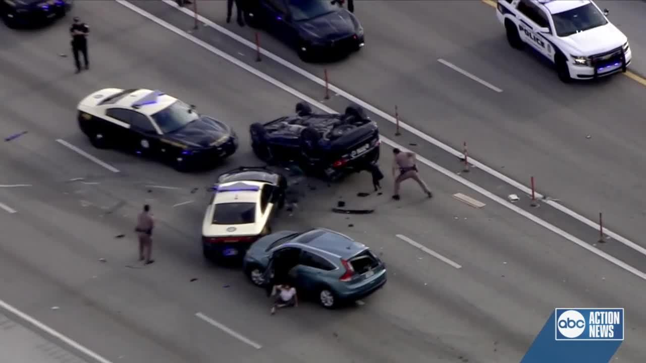 Video shows wild end to high-speed chase in south Florida involving 5 juveniles