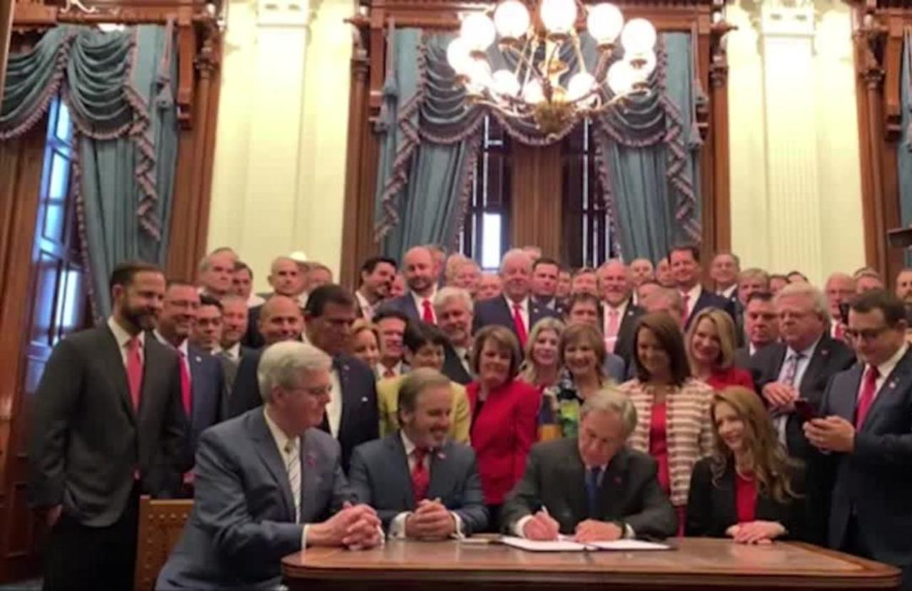 Texas governor signs 'fetal heartbeat' abortion ban