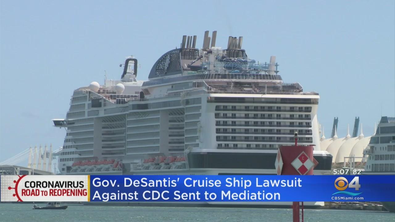Gov. DeSantis' Cruise Ship Lawsuit Against CDC Sent To Mediation