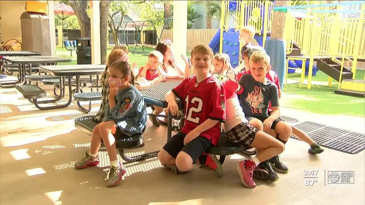 Vince Lombardi Trophy visits Tampa elementary school