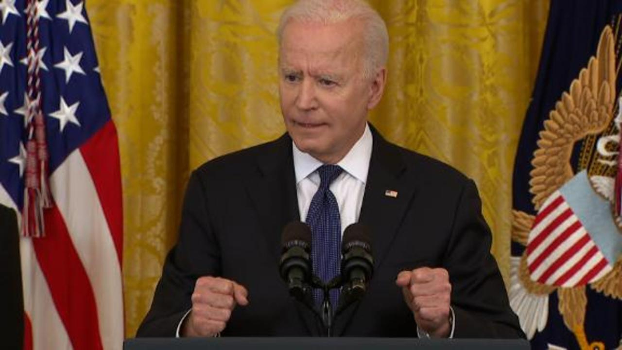 Biden gets passionate during speech on anti-Asian hate crime bill