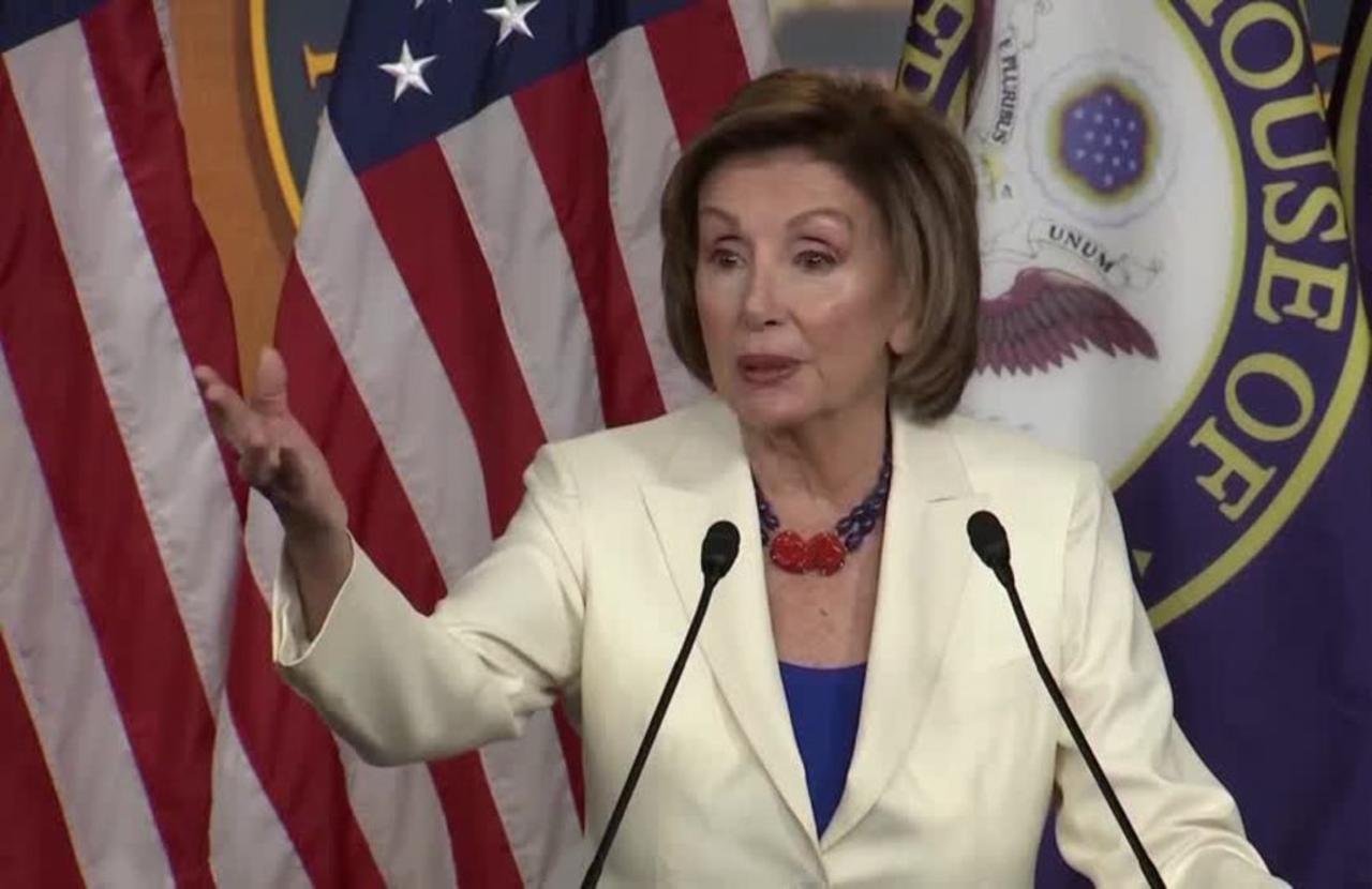 Pelosi cheers, Trump jeers GOP votes for Jan. 6 commission