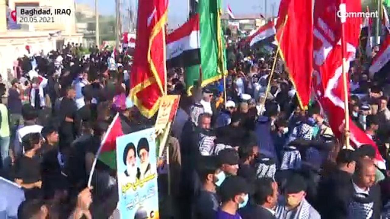 Israeli, Palestinian demonstrators gather in NYC