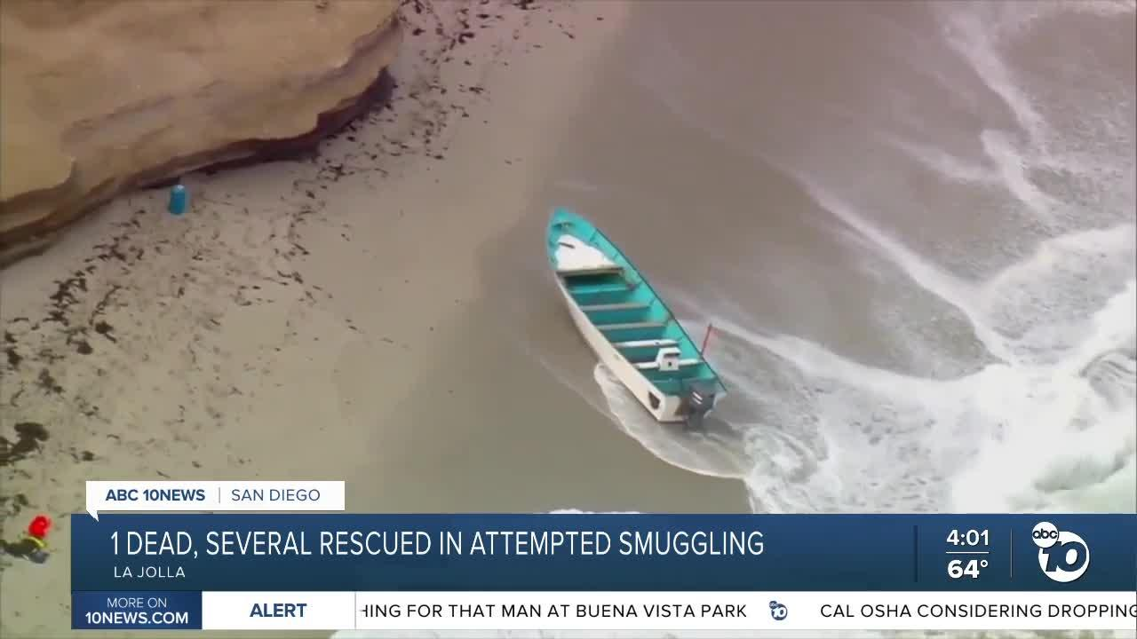 1 dead, several rescued in attempted smuggling off La Jolla