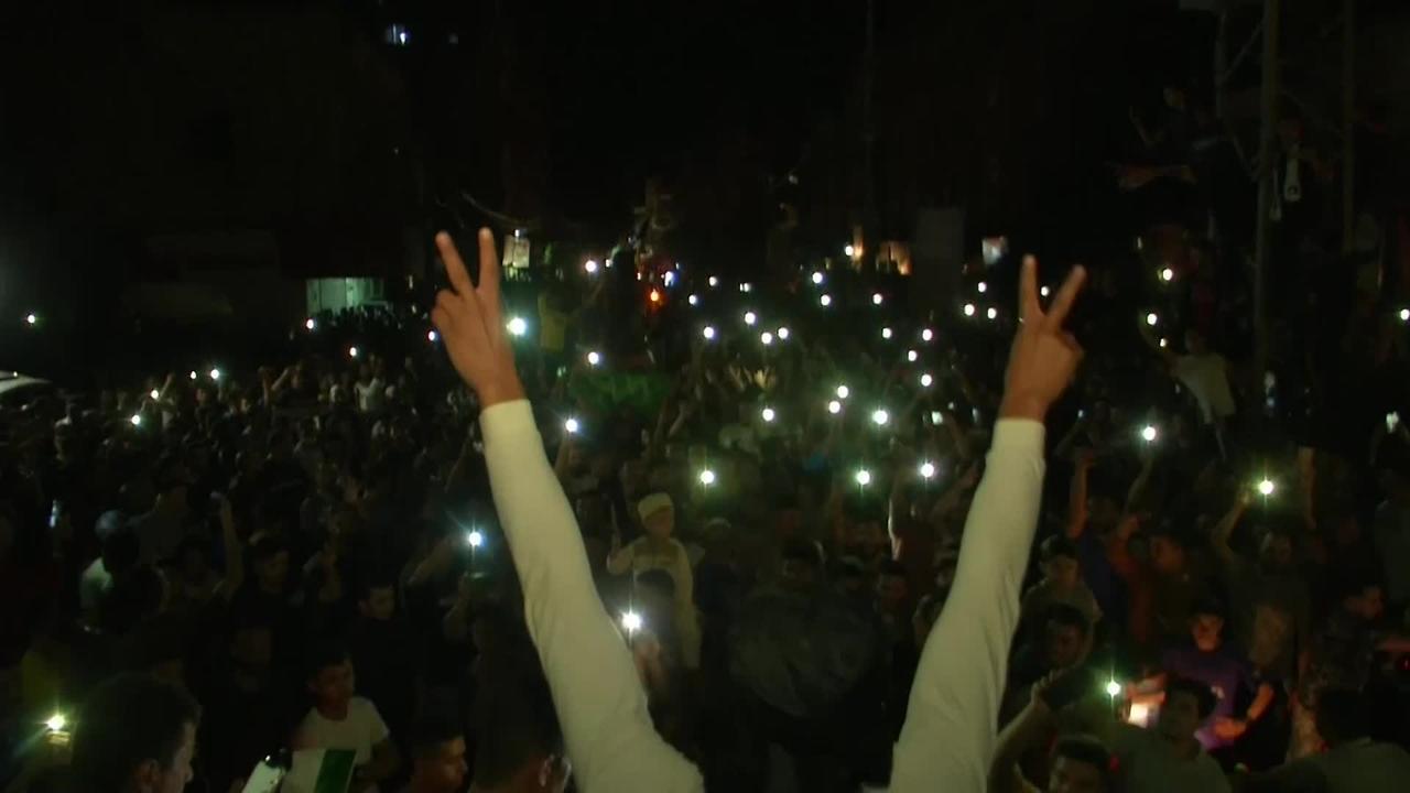 Gaza City celebrates Israel-Hamas ceasefire