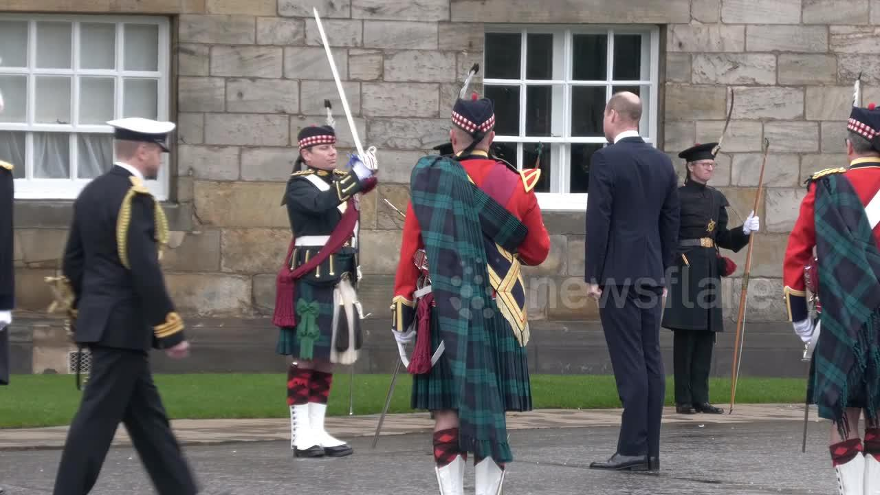 Prince William makes first public appearance in Edinburgh since BBC Diana 'Panorama' revelations