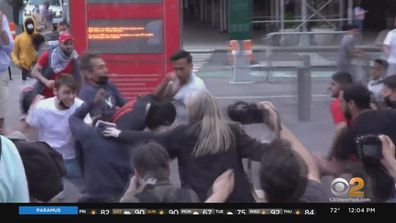 Protesters Clash In Times Square, Political Science Professor Hopeful Israel-Hamas Ceasefire Will Hold