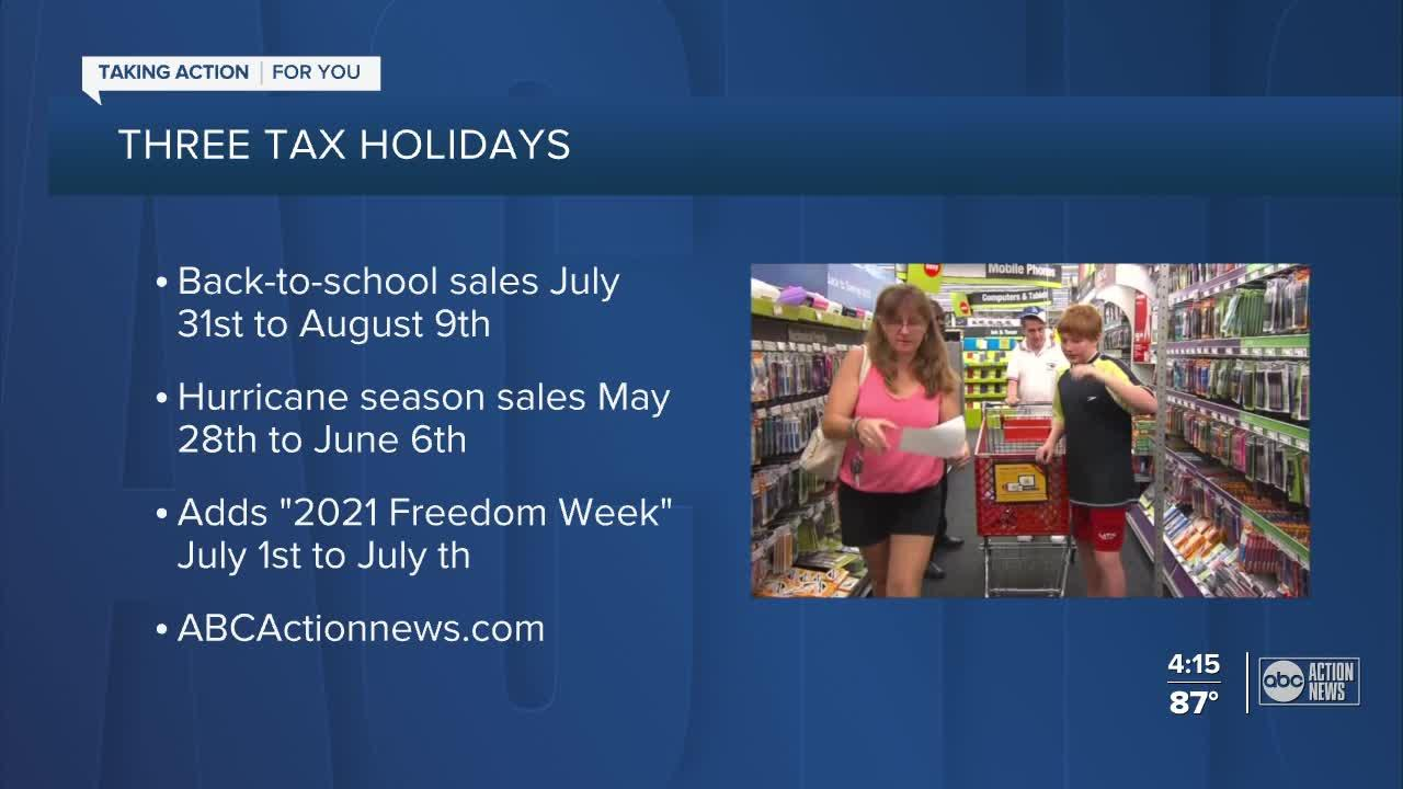 LIST: Everything you need to know about Florida's 2021 sales tax holidays