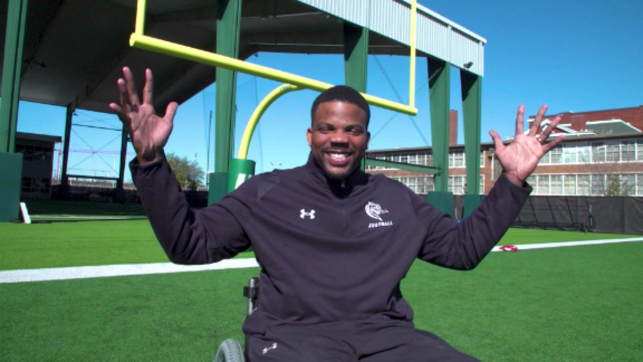 NFL hopeful finds new dream after accident