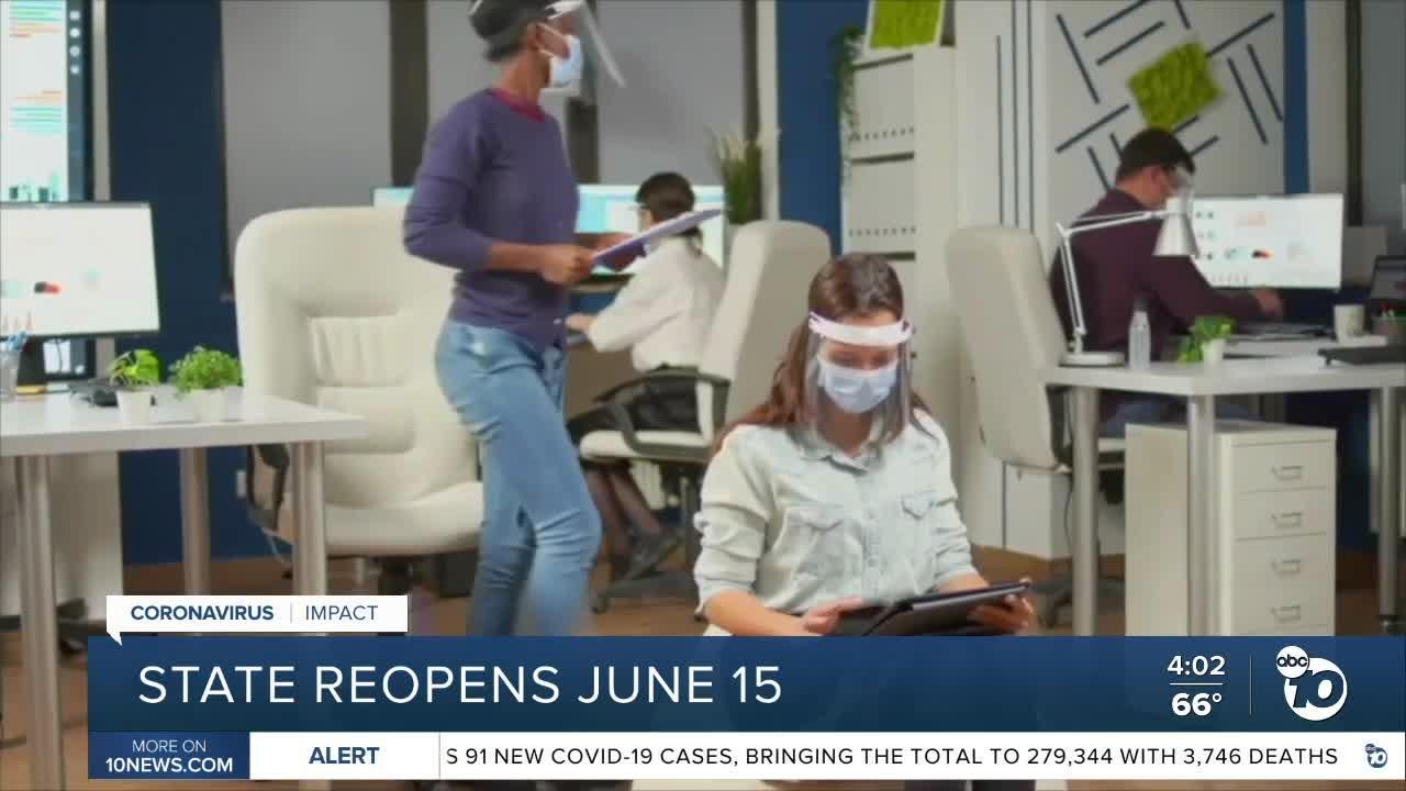 California outlines June 15 reopening plan