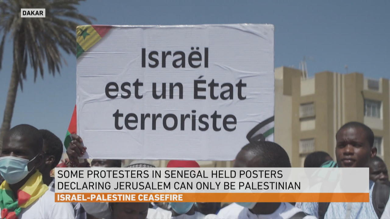 Hundreds in Senegal hold protests in support of the Palestinians