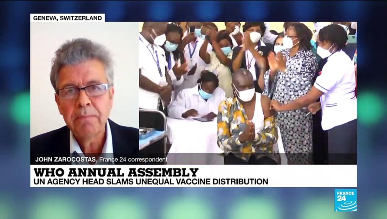 WHO head slams unequal Covid-19 vaccine distribution on UN agency annual assembly