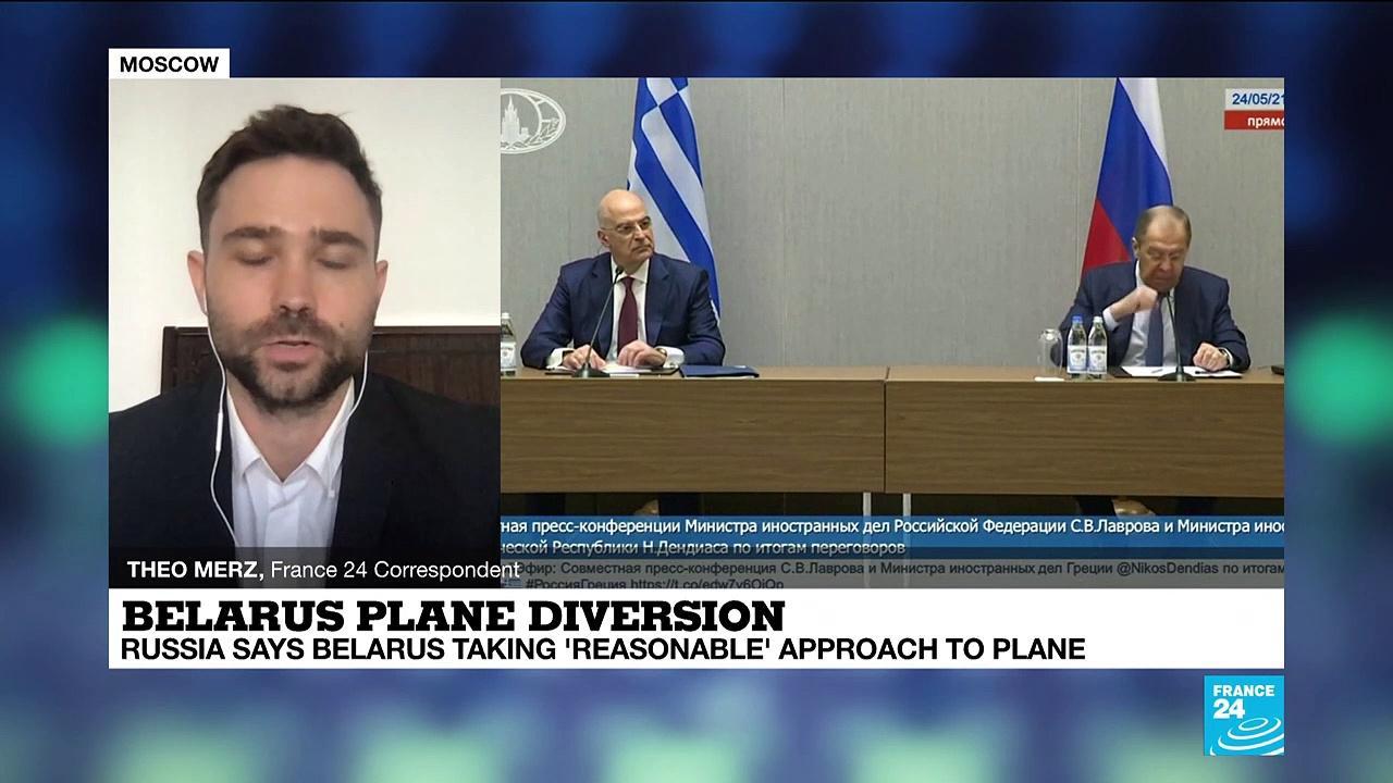 Russia backs Belarus after plane diversion to Minsk, Pratasevich detention