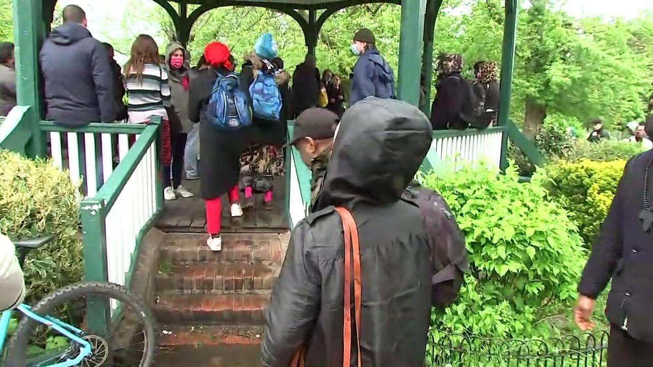Supporters hold vigil for Johnson