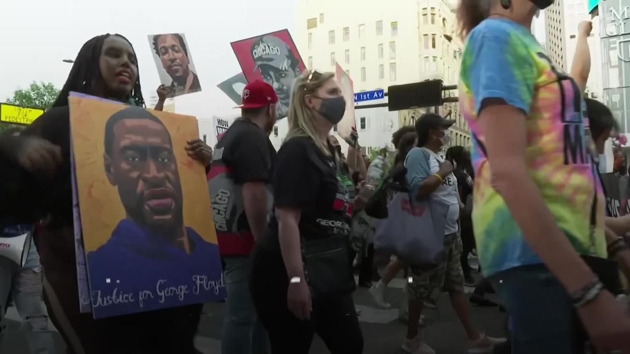 Black Lives Matter march held in Minneapolis in memory of George Floyd