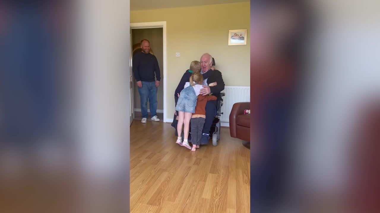 Watch: Irish grandad reunites with his grandchildren after SEVEN MONTHS APART