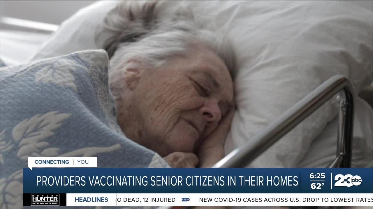 Providers vaccinating senior citizens in their homes