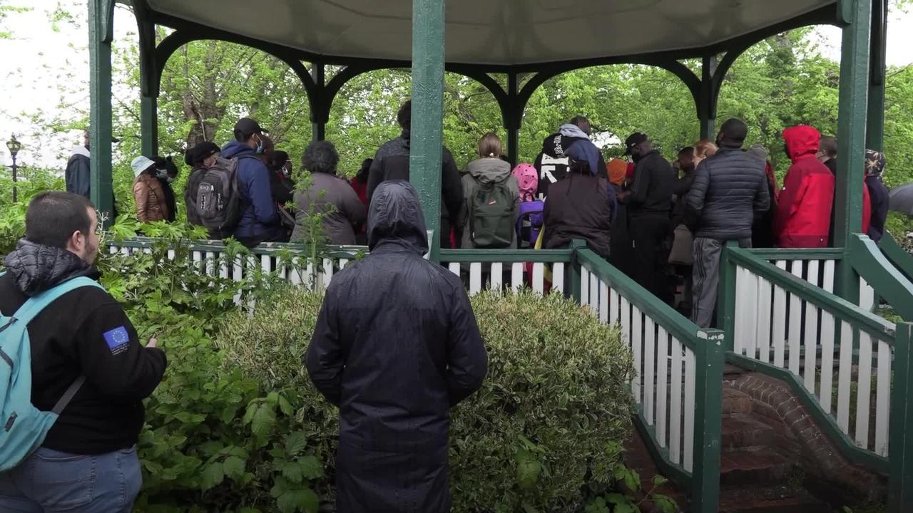 Vigil held for black rights activist Sasha Johnson after south London shooting