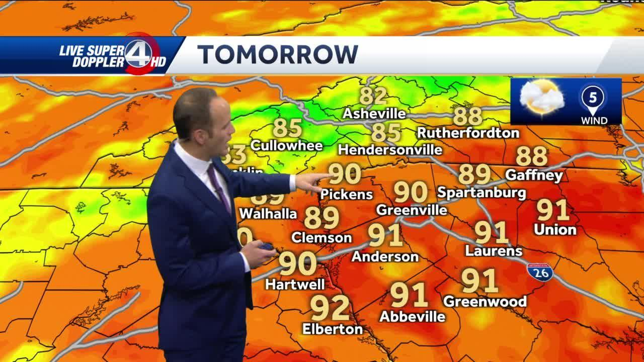 Hot, with slight chance of pop-up storms