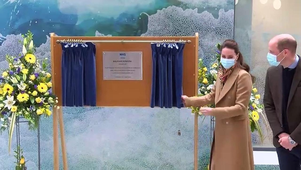 Prince William and Kate open new NHS hospital on Orkney