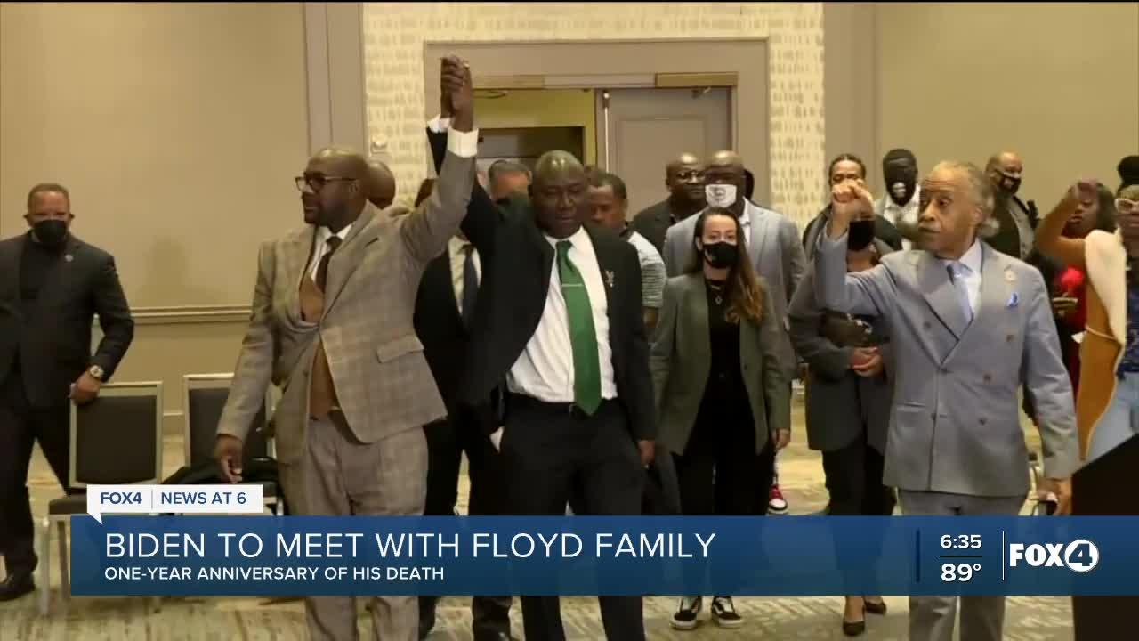Biden to meet with family of George Floyd Tuesday on one-year anniversary of his death, Psaki says