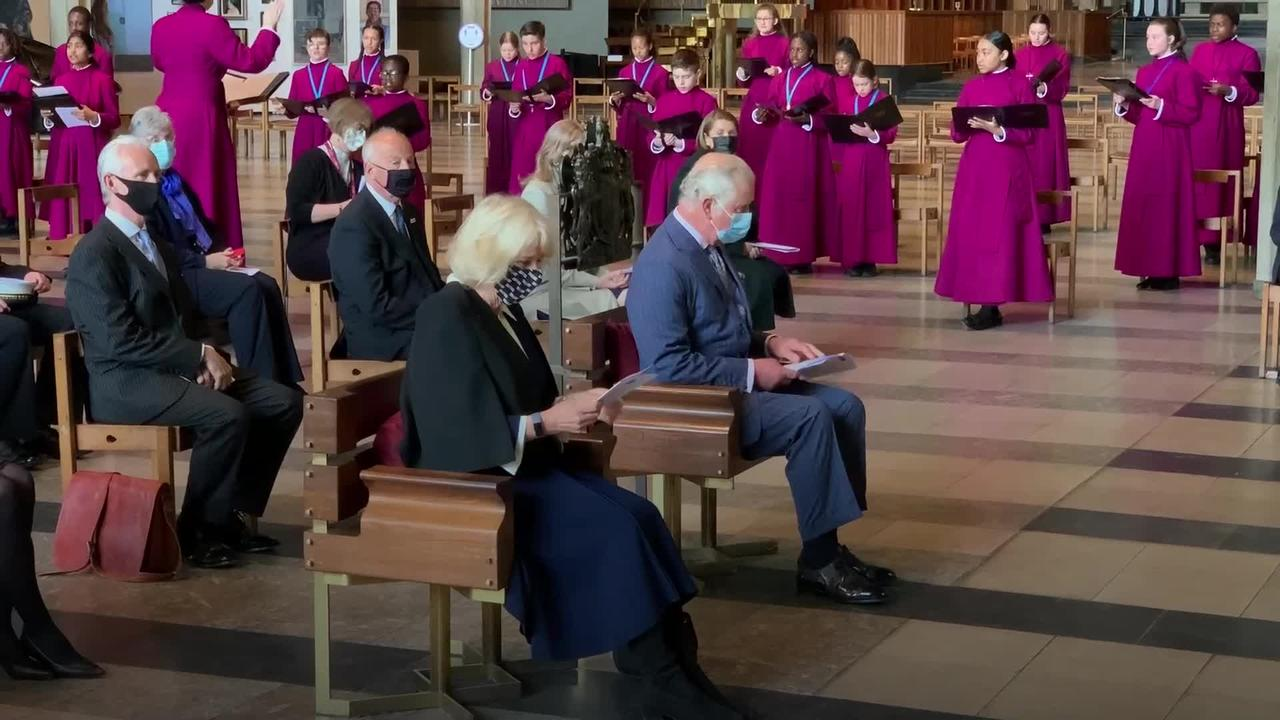 Charles and Camilla visit Coventry during City of Culture celebrations