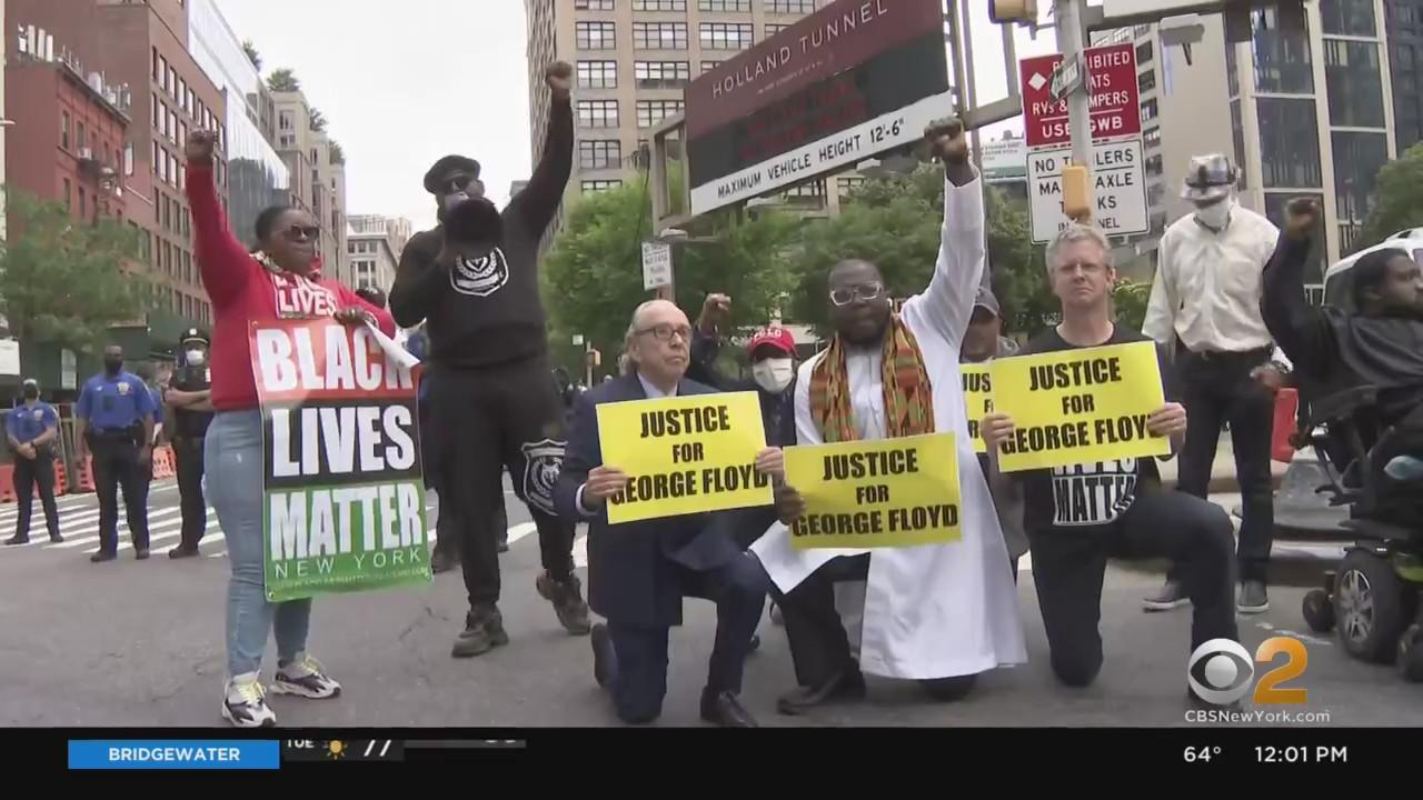 NYC And Nation Mark 1 Year Since George Floyd's Death