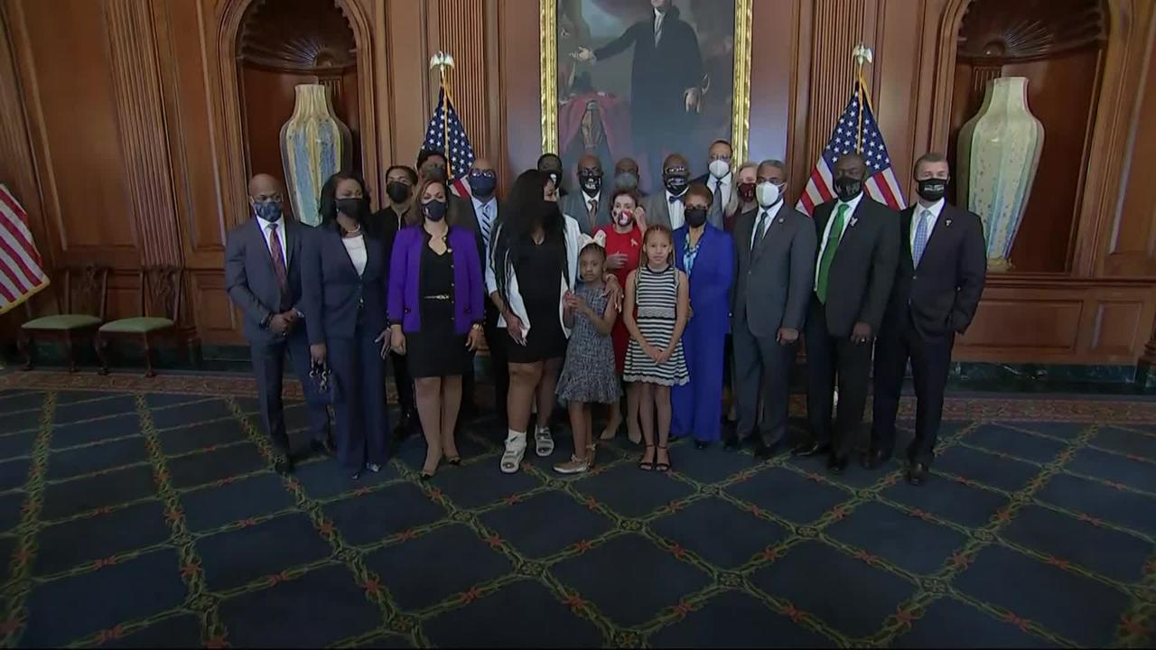 Family of George Floyd visits Capitol Hill