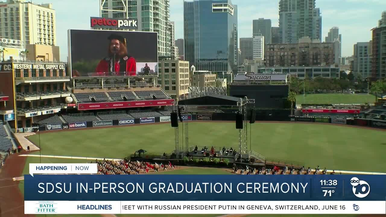 SDSU holds in-person graduation ceremony