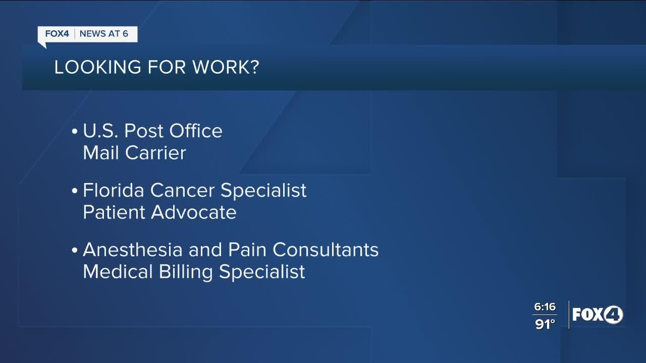 Southwest Florida businesses and organizations are hiring