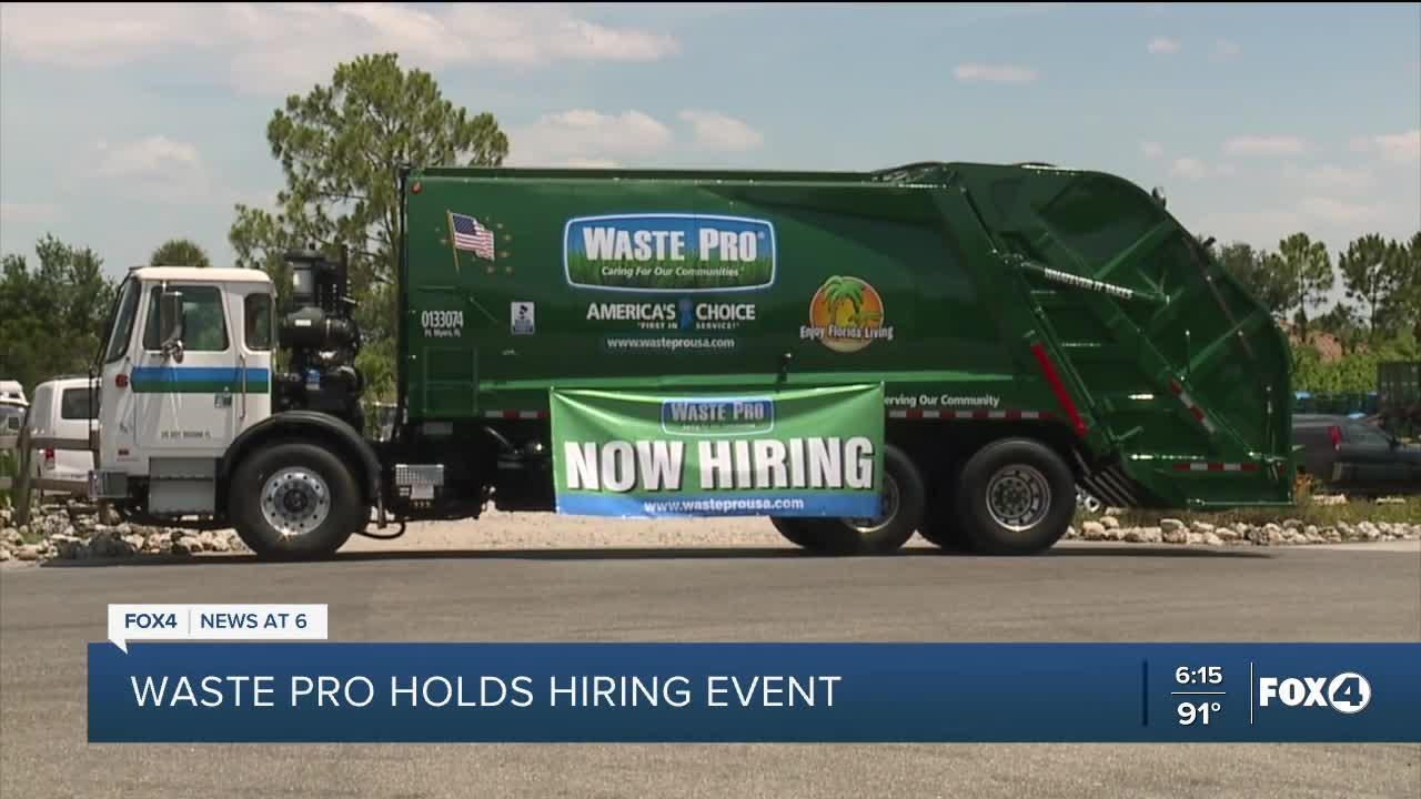 Waste Pro hiring event