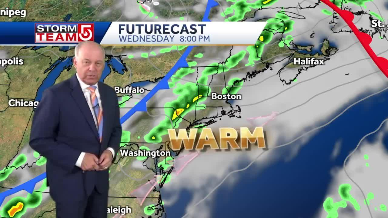 Video: Hot, humid day ahead for Massachusetts with late thunderstorms