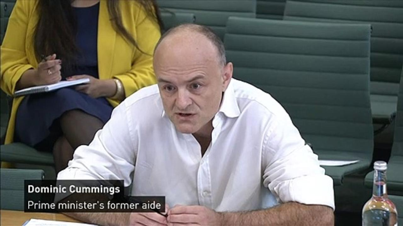 Dominic Cummings apology to joint select committee