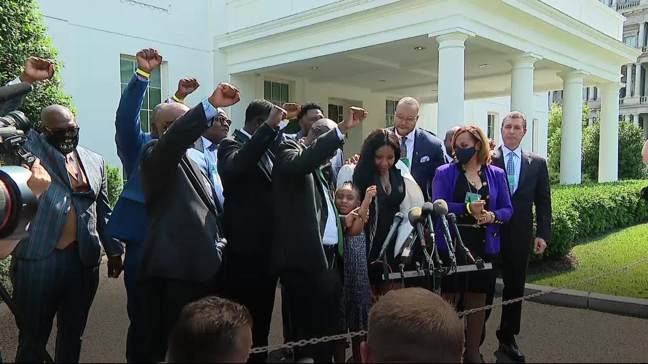 Floyd family meet Biden at White House