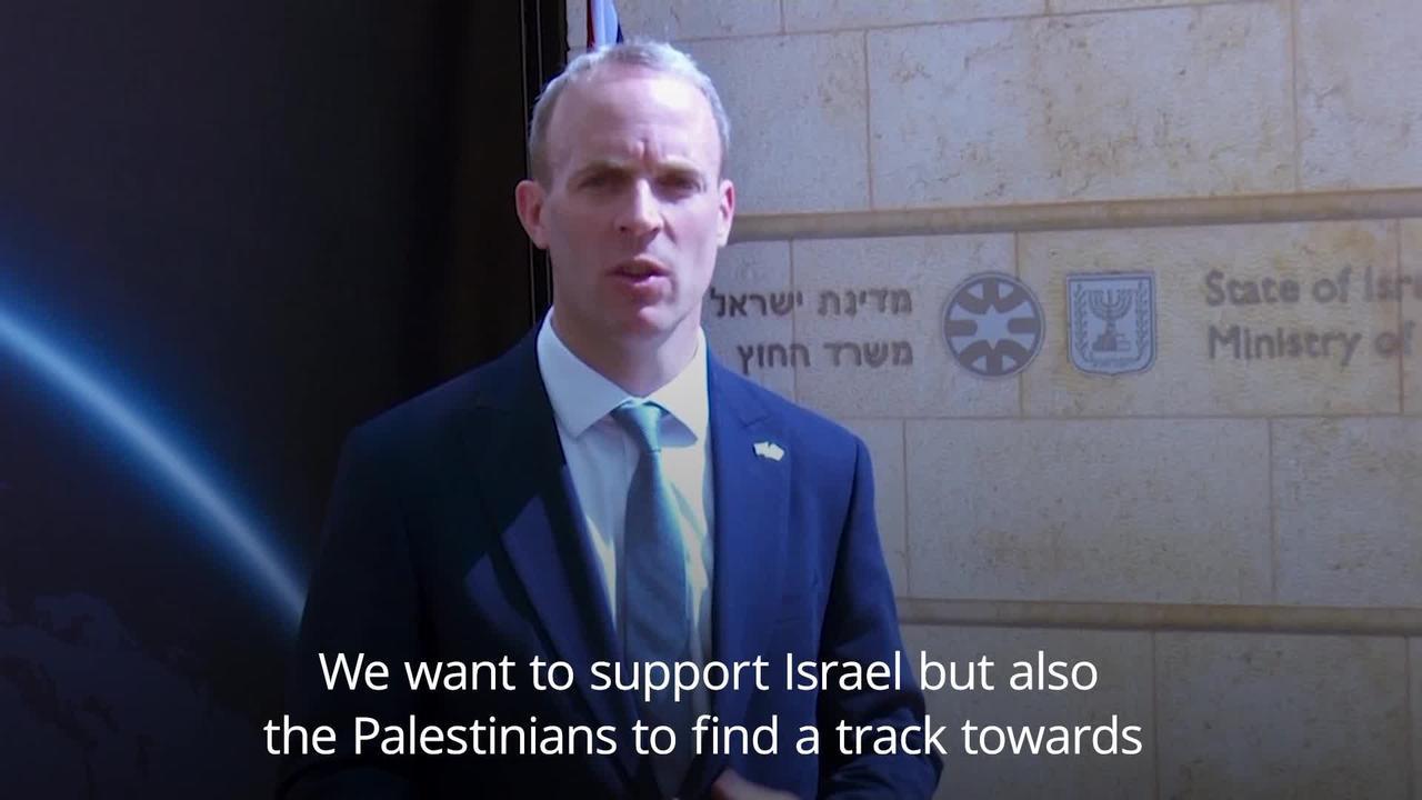 Dominic Raab meets Israeli counterpart in Jerusalem
