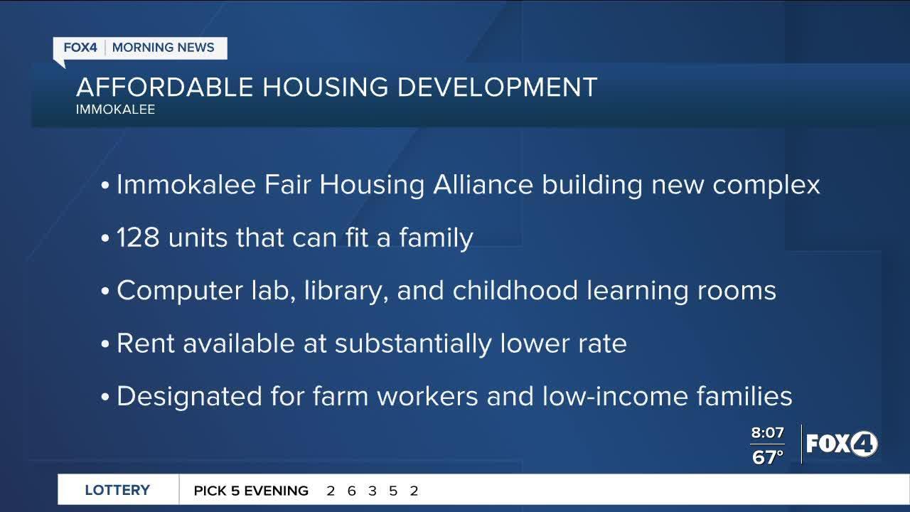 New housing development in Immokalee