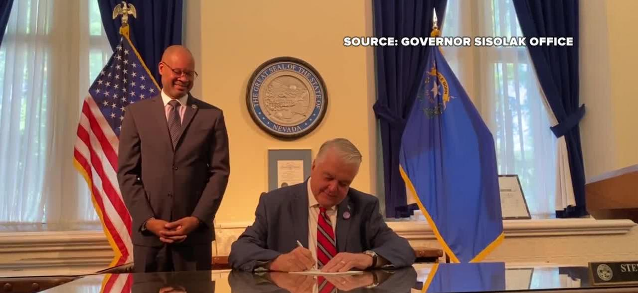 Nevada governor signs AB 58, SB Bill 50 into law on anniversary of George Floyd's death