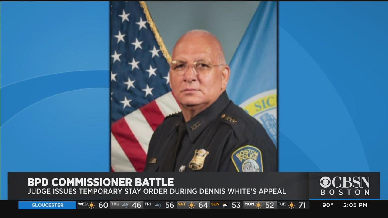 Judge Issues Temporary Stay Order During Boston Police Commissioner Dennis White's Appeal
